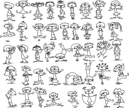 Cute happy cartoon kids  Stock Vector - 15408543