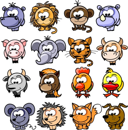 pig with wings: Cartoon  animals  Illustration