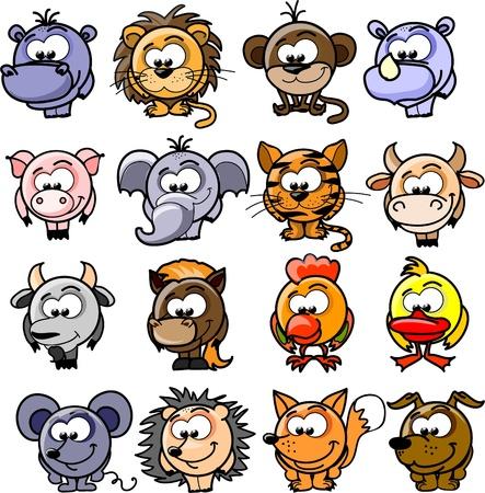 Cartoon  animals Stock Vector - 15551370