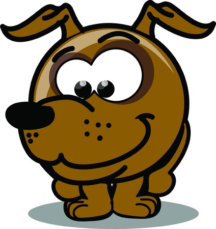 Cartoon vector dog  Vector