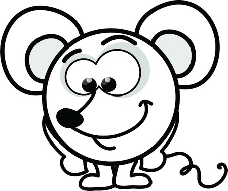 Cartoon vector mouse  Vector