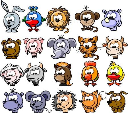 Cartoon vector animals  Çizim