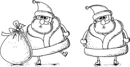 red beard: Cartoon Santa  Illustration