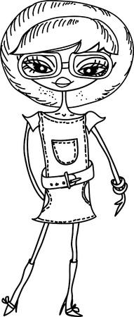 Cartoon fashionable girls Stock Vector - 15853708