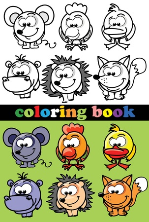 pig wings: Coloring book of animals
