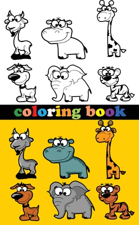 coloring pages to print: Coloring book of animals