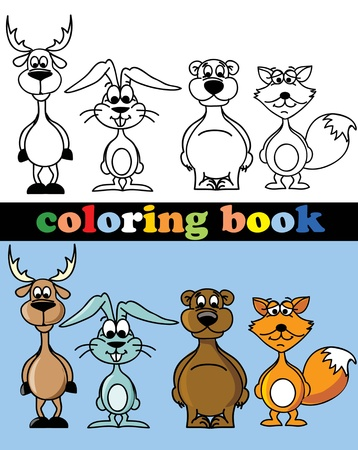 coloring pages: Coloring book of animals