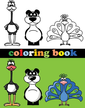 tiger page: Coloring book of animals