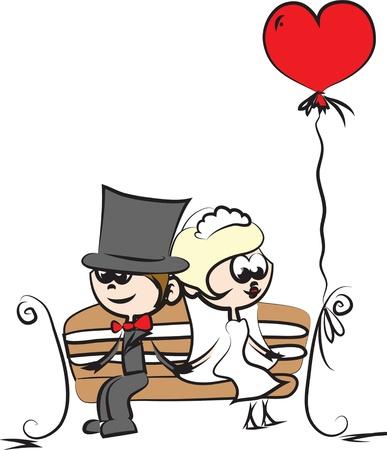bridegroom: cartoon wedding pictures
