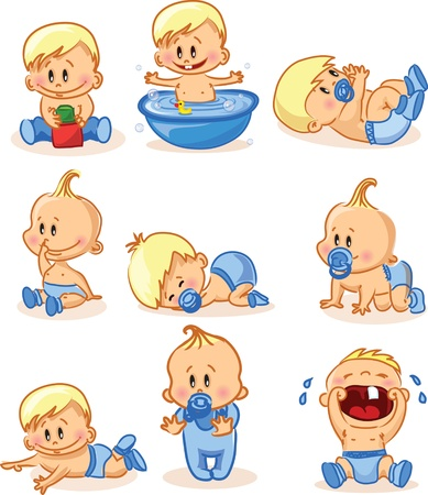 Vector illustration of baby boys Stock Vector - 16154874
