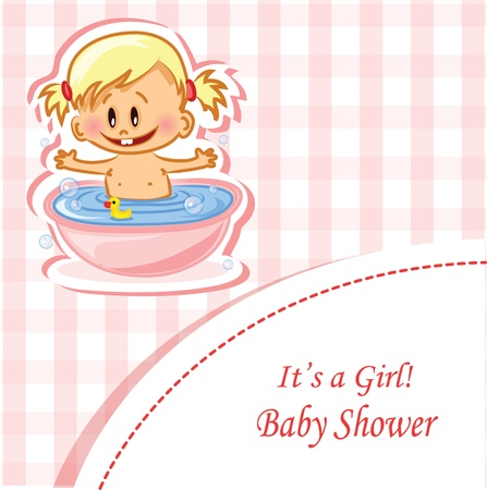 hysterical: Vector illustration of baby boy