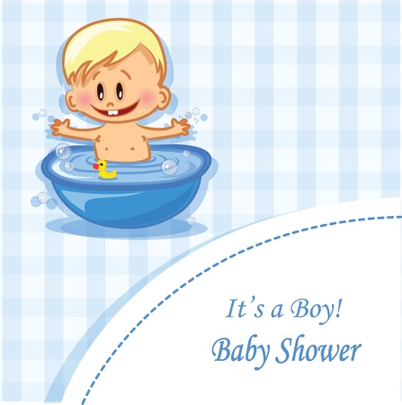 Vector illustration of baby boy  Vector
