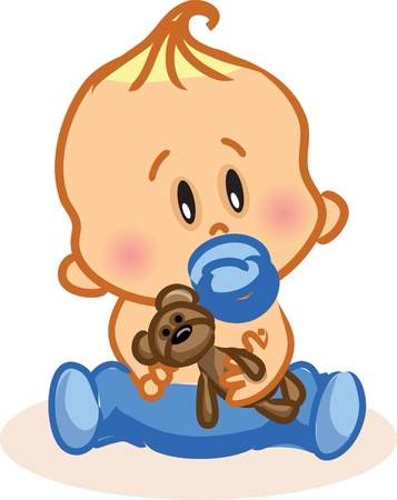 baby romantic: Vector illustration of baby boy