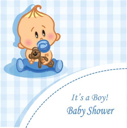 baby announcement: Vector illustration of baby boy Illustration