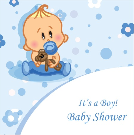 announcements: Vector illustration of baby boy Illustration