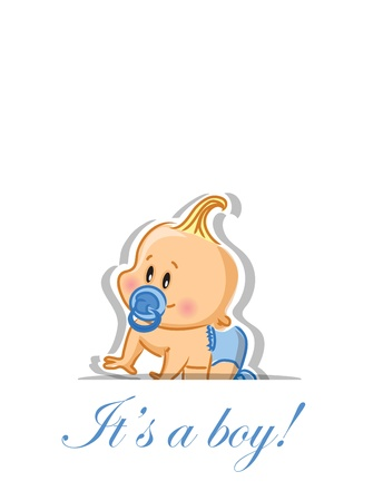 baby cry: Vector illustration of baby boy