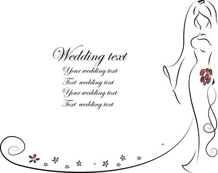 Silhouette von Braut und Bräutigam, Hintergrund