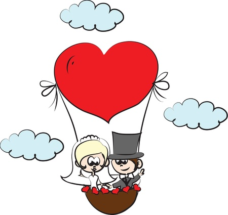 proposal: Cartoon wedding invitation, background  Illustration