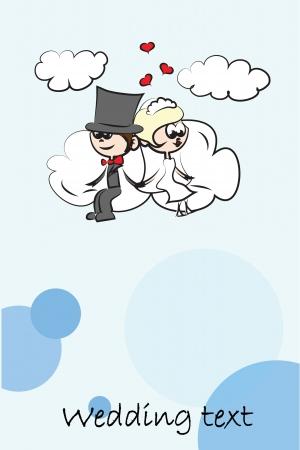 Cartoon wedding invitation, background Stock Vector - 16490568