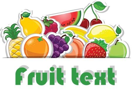 Fruit background, vector illustration