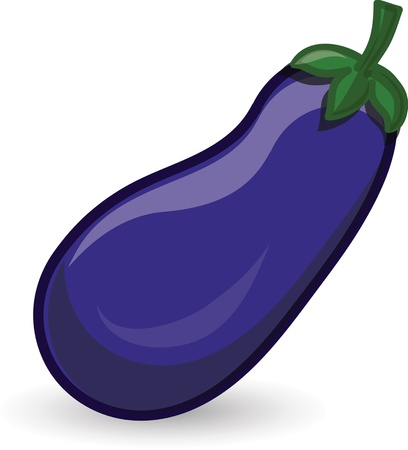 Cartoon eggplant Vector