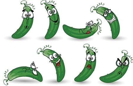 Cartoon komkommers
