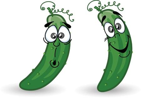 pepino caricatura: Pepinos de dibujos animados