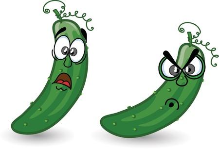 Cartoon cucumbers