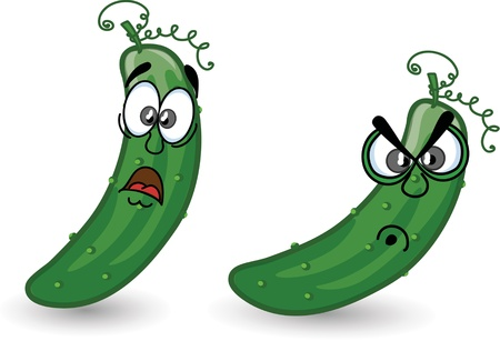 Cartoon cucumbers Stock Vector - 16724804