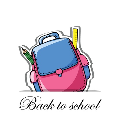 Back to school, vector background for your design Vector