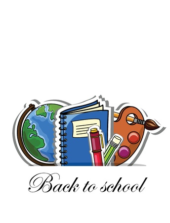 Back to school, vector background  Vector