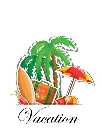 spanking: Vacation and travel background Illustration
