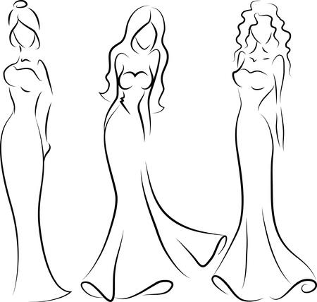 urban fashion: Fashion woman, hand drawing illustration  Illustration