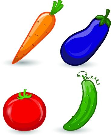 pepino caricatura: Hortalizas de dibujos animados
