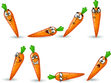 carrot: Cartoon carrot  Illustration