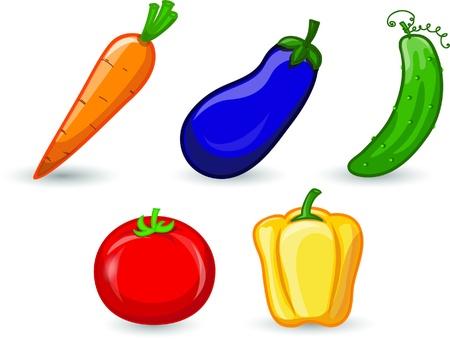 Cartoon vegetables  Stock Vector - 16953510