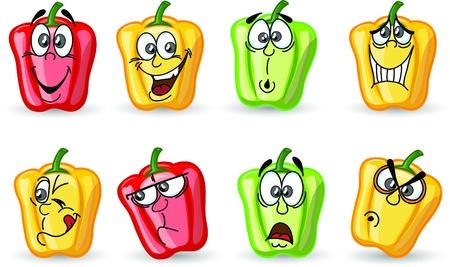 Cartoon cute peppers, background