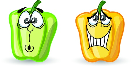 Cartoon cute peppers, background Stock Vector - 16954228