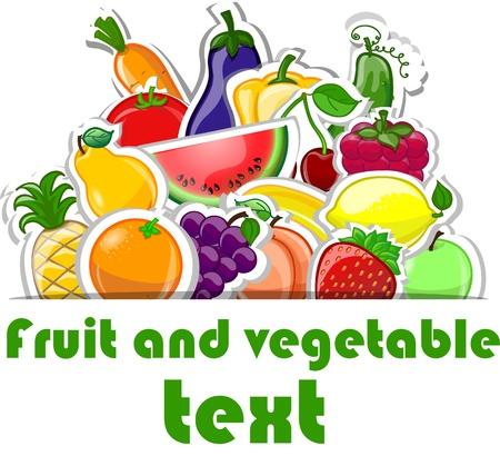 fruta tropical: Caricatura lindo pimientos, fondo