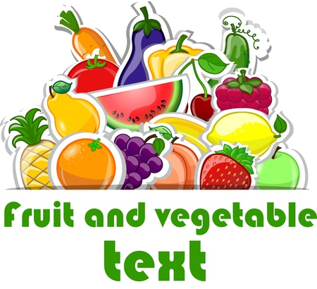 fruits vegetables: Cartoon cute peppers, background