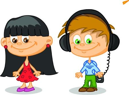 Set of cartoon cute children Stock Vector - 17010750