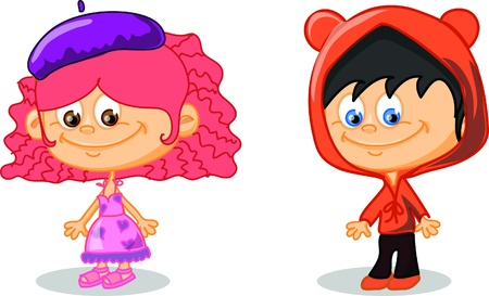 Set of cartoon cute children Stock Vector - 17010747