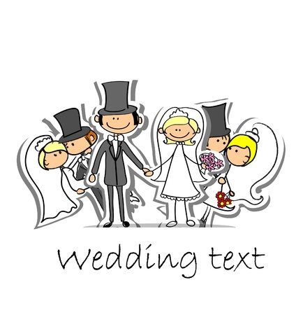 Cartoon wedding picture Stock Vector - 17010798