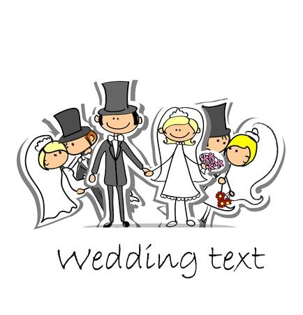 Cartoon wedding picture Stock Vector - 17010798
