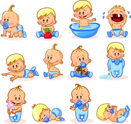 Vector illustration of baby boys Stock Vector - 17010780