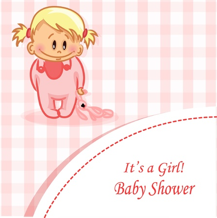 birth announcement: illustration of baby boy and baby girl