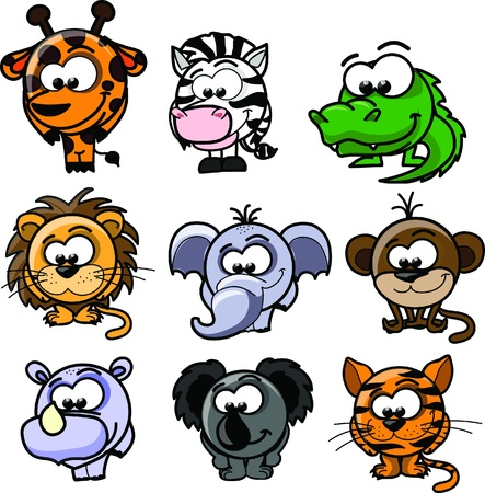 Cartoon vector animals  Vector