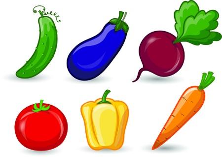 Cartoon vegetables Stock Vector - 17205977