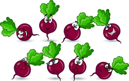Cartoon beet  Stock Vector - 17205990