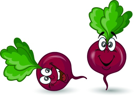 Cartoon beet  Illustration